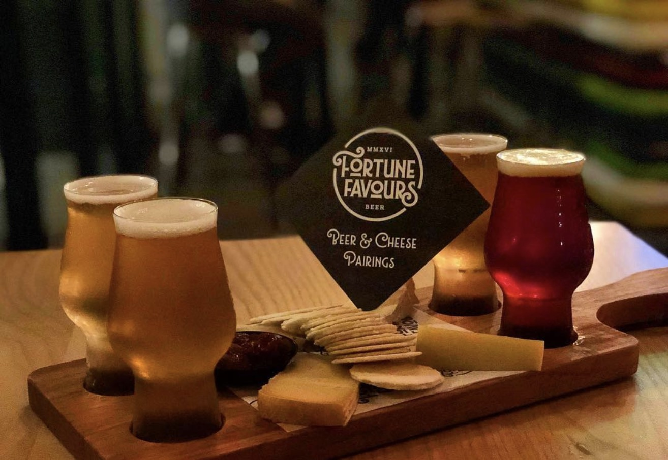 Fortune Favours beer & cheese platter